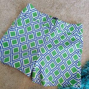 mm melly m green blue sz 2 shorts